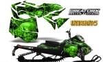 Skidoo RevXM CreatorX Graphics Kit Inferno Green 150x90 - Ski-Doo Can-Am Rev XM 2013-2017 Graphics