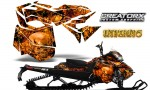Skidoo RevXM CreatorX Graphics Kit Inferno Orange 150x90 - Ski-Doo Can-Am Rev XM 2013-2017 Graphics