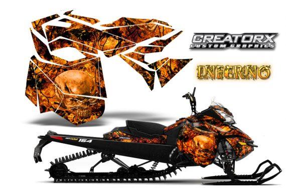 Skidoo RevXM CreatorX Graphics Kit Inferno Orange 570x376 - Ski-Doo Can-Am Rev XM 2013-2017 Graphics