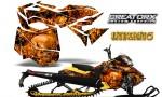 Skidoo RevXM CreatorX Graphics Kit Inferno Orange YB 150x90 - Ski-Doo Can-Am Rev XM 2013-2017 Graphics