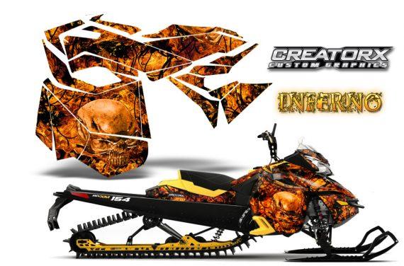 Skidoo RevXM CreatorX Graphics Kit Inferno Orange YB 570x376 - Ski-Doo Can-Am Rev XM 2013-2017 Graphics