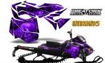 Skidoo RevXM CreatorX Graphics Kit Inferno Purple 150x90 - Ski-Doo Can-Am Rev XM 2013-2017 Graphics