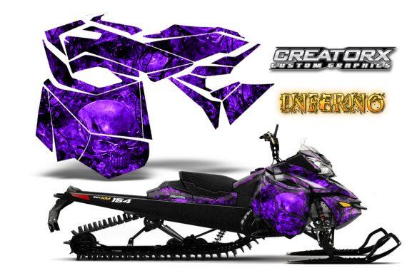 Skidoo RevXM CreatorX Graphics Kit Inferno Purple 570x376 - Ski-Doo Can-Am Rev XM 2013-2017 Graphics