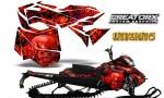 Skidoo RevXM CreatorX Graphics Kit Inferno Red 150x90 - Ski-Doo Can-Am Rev XM 2013-2017 Graphics