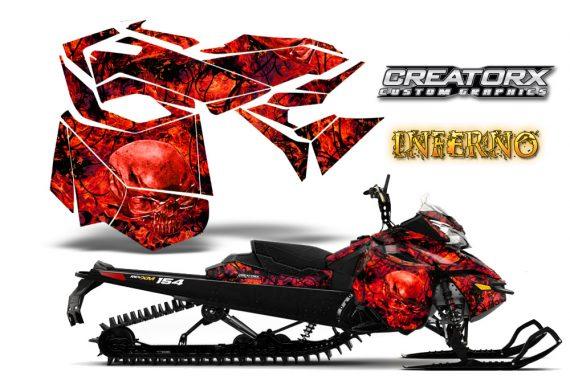 Skidoo RevXM CreatorX Graphics Kit Inferno Red 570x376 - Ski-Doo Can-Am Rev XM 2013-2017 Graphics