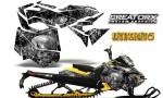 Skidoo RevXM CreatorX Graphics Kit Inferno Silver 150x90 - Ski-Doo Can-Am Rev XM 2013-2017 Graphics