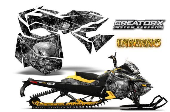 Skidoo RevXM CreatorX Graphics Kit Inferno Silver 570x376 - Ski-Doo Can-Am Rev XM 2013-2017 Graphics