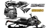 Skidoo RevXM CreatorX Graphics Kit Inferno Silver BB 150x90 - Ski-Doo Can-Am Rev XM 2013-2017 Graphics