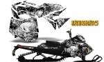 Skidoo RevXM CreatorX Graphics Kit Inferno White BB 150x90 - Ski-Doo Can-Am Rev XM 2013-2017 Graphics