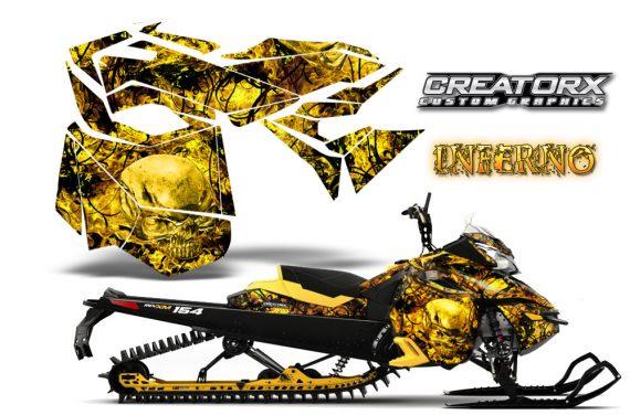 Skidoo RevXM CreatorX Graphics Kit Inferno Yellow 570x376 - Ski-Doo Can-Am Rev XM 2013-2017 Graphics