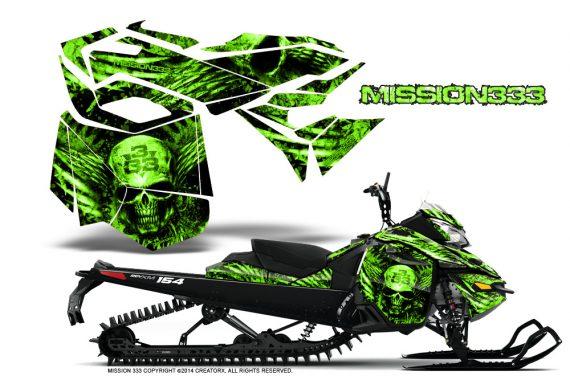 Skidoo-RevXM-CreatorX-Graphics-Kit-Mission333-Green