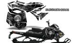 Skidoo RevXM CreatorX Graphics Kit Mission333 Silver 150x90 - Ski-Doo Can-Am Rev XM 2013-2017 Graphics