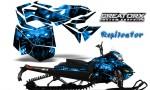 Skidoo RevXM CreatorX Graphics Kit Replicator Blue 150x90 - Ski-Doo Can-Am Rev XM 2013-2017 Graphics