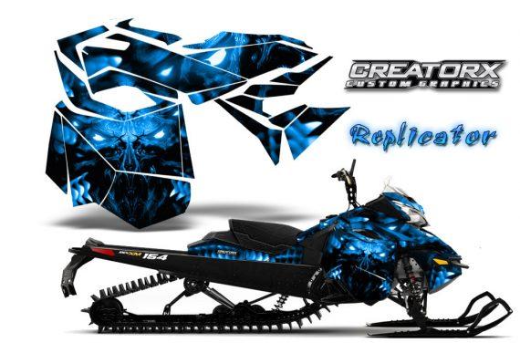 Skidoo RevXM CreatorX Graphics Kit Replicator Blue 570x376 - Ski-Doo Can-Am Rev XM 2013-2017 Graphics