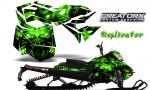 Skidoo RevXM CreatorX Graphics Kit Replicator Green 150x90 - Ski-Doo Can-Am Rev XM 2013-2017 Graphics