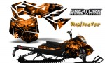 Skidoo RevXM CreatorX Graphics Kit Replicator Orange 150x90 - Ski-Doo Can-Am Rev XM 2013-2017 Graphics
