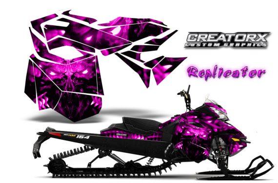 Skidoo RevXM CreatorX Graphics Kit Replicator Pink 570x376 - Ski-Doo Can-Am Rev XM 2013-2017 Graphics