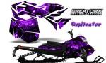 Skidoo RevXM CreatorX Graphics Kit Replicator Purple 150x90 - Ski-Doo Can-Am Rev XM 2013-2017 Graphics