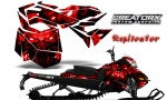 Skidoo RevXM CreatorX Graphics Kit Replicator Red 150x90 - Ski-Doo Can-Am Rev XM 2013-2017 Graphics