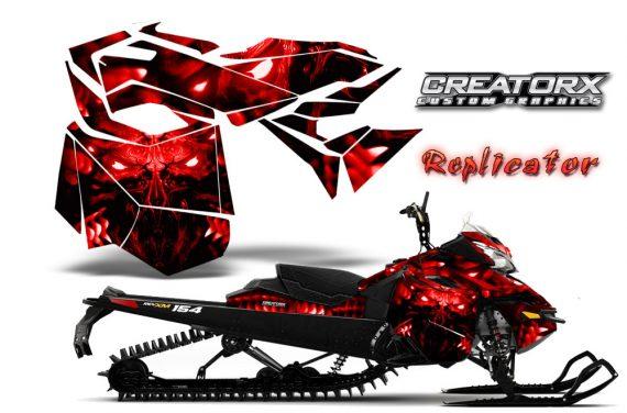 Skidoo RevXM CreatorX Graphics Kit Replicator Red 570x376 - Ski-Doo Can-Am Rev XM 2013-2017 Graphics