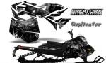 Skidoo RevXM CreatorX Graphics Kit Replicator Silver 150x90 - Ski-Doo Can-Am Rev XM 2013-2017 Graphics