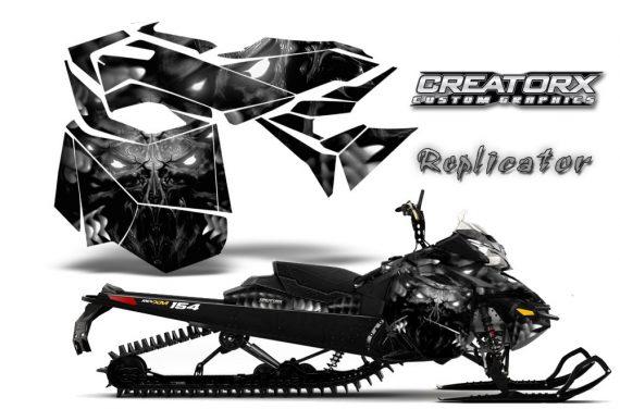 Skidoo RevXM CreatorX Graphics Kit Replicator Silver 570x376 - Ski-Doo Can-Am Rev XM 2013-2017 Graphics