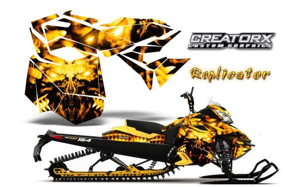 Skidoo RevXM CreatorX Graphics Kit Replicator Yellow YB 570x376 - Ski-Doo Can-Am Rev XM 2013-2017 Graphics