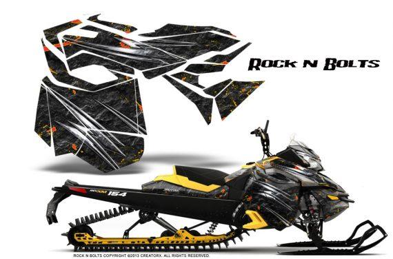 Skidoo RevXM CreatorX Graphics Kit Rock n Bolts YB 570x376 - Ski-Doo Can-Am Rev XM 2013-2017 Graphics