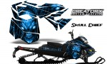 Skidoo RevXM CreatorX Graphics Kit Skull Chief Blue 150x90 - Ski-Doo Can-Am Rev XM 2013-2017 Graphics
