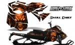 Skidoo RevXM CreatorX Graphics Kit Skull Chief Orange 150x90 - Ski-Doo Can-Am Rev XM 2013-2017 Graphics