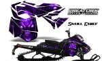 Skidoo RevXM CreatorX Graphics Kit Skull Chief Purple 150x90 - Ski-Doo Can-Am Rev XM 2013-2017 Graphics