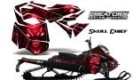 Skidoo RevXM CreatorX Graphics Kit Skull Chief Red 150x90 - Ski-Doo Can-Am Rev XM 2013-2017 Graphics