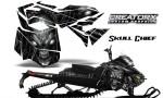 Skidoo RevXM CreatorX Graphics Kit Skull Chief Silver 150x90 - Ski-Doo Can-Am Rev XM 2013-2017 Graphics