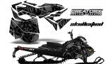 Skidoo RevXM CreatorX Graphics Kit Skullcified Black BB 150x90 - Ski-Doo Can-Am Rev XM 2013-2017 Graphics