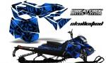 Skidoo RevXM CreatorX Graphics Kit Skullcified Blue 150x90 - Ski-Doo Can-Am Rev XM 2013-2017 Graphics