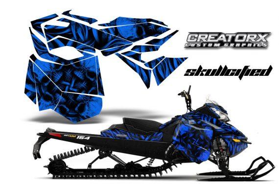 Skidoo RevXM CreatorX Graphics Kit Skullcified Blue 570x376 - Ski-Doo Can-Am Rev XM 2013-2017 Graphics