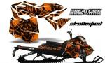Skidoo RevXM CreatorX Graphics Kit Skullcified Orange 150x90 - Ski-Doo Can-Am Rev XM 2013-2017 Graphics