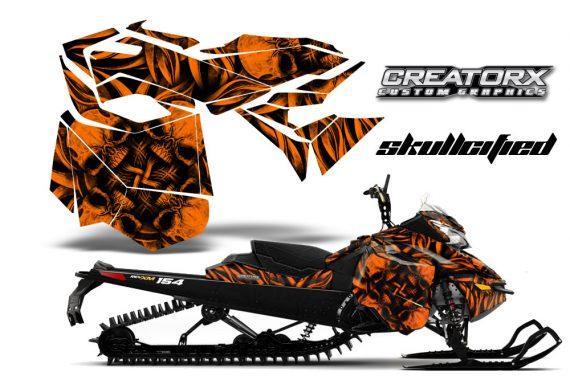 Skidoo RevXM CreatorX Graphics Kit Skullcified Orange 570x376 - Ski-Doo Can-Am Rev XM 2013-2017 Graphics