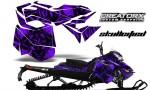 Skidoo RevXM CreatorX Graphics Kit Skullcified Purple 150x90 - Ski-Doo Can-Am Rev XM 2013-2017 Graphics