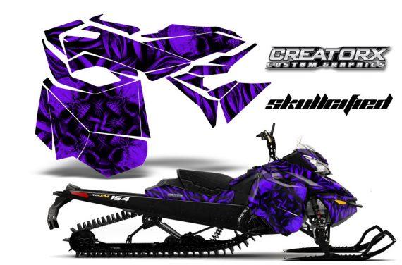Skidoo RevXM CreatorX Graphics Kit Skullcified Purple 570x376 - Ski-Doo Can-Am Rev XM 2013-2017 Graphics