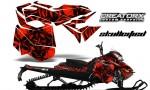 Skidoo RevXM CreatorX Graphics Kit Skullcified Red 150x90 - Ski-Doo Can-Am Rev XM 2013-2017 Graphics
