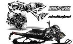 Skidoo RevXM CreatorX Graphics Kit Skullcified Silver BB 150x90 - Ski-Doo Can-Am Rev XM 2013-2017 Graphics