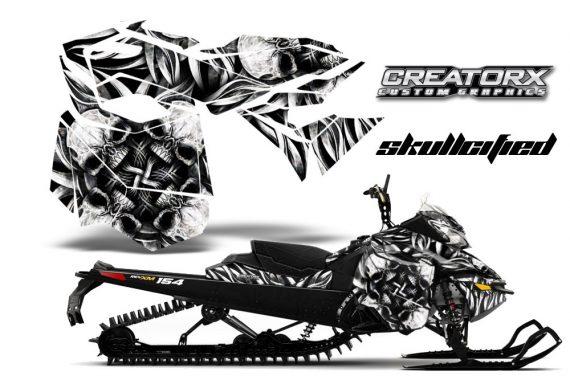 Skidoo RevXM CreatorX Graphics Kit Skullcified Silver BB 570x376 - Ski-Doo Can-Am Rev XM 2013-2017 Graphics
