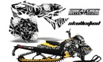 Skidoo RevXM CreatorX Graphics Kit Skullcified Silver YB 150x90 - Ski-Doo Can-Am Rev XM 2013-2017 Graphics