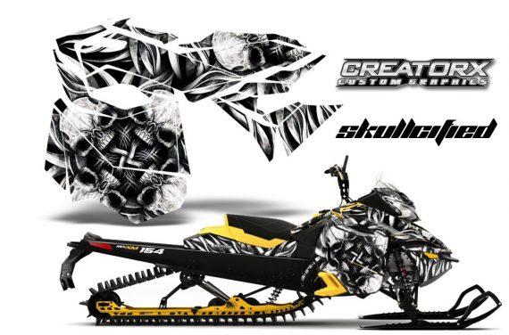 Skidoo RevXM CreatorX Graphics Kit Skullcified Silver YB 570x376 - Ski-Doo Can-Am Rev XM 2013-2017 Graphics