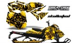 Skidoo RevXM CreatorX Graphics Kit Skullcified Yellow 150x90 - Ski-Doo Can-Am Rev XM 2013-2017 Graphics
