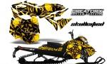 Skidoo RevXM CreatorX Graphics Kit Skullcified Yellow BB 150x90 - Ski-Doo Can-Am Rev XM 2013-2017 Graphics