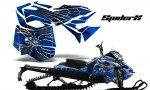 Skidoo RevXM CreatorX Graphics Kit SpiderX Blue 150x90 - Ski-Doo Can-Am Rev XM 2013-2017 Graphics