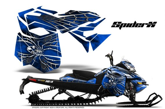 Skidoo RevXM CreatorX Graphics Kit SpiderX Blue 570x376 - Ski-Doo Can-Am Rev XM 2013-2017 Graphics