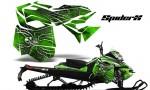 Skidoo RevXM CreatorX Graphics Kit SpiderX Green 150x90 - Ski-Doo Can-Am Rev XM 2013-2017 Graphics